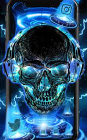Free download Neon Tech Skull Themes HD ...