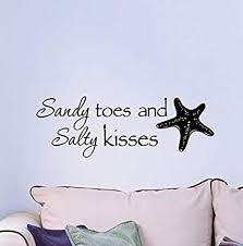 Wall Decor Quotes Beauteous Amazon Wall Decal Sandy Toes And Salty Kisses Cute Ocean