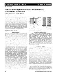 Small Picture Flexural modeling of reinforced concrete walls Experimental