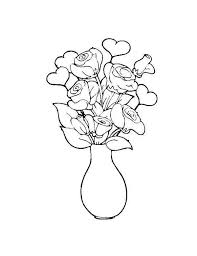 Small Picture Flower in the Vase Coloring Page NetArt
