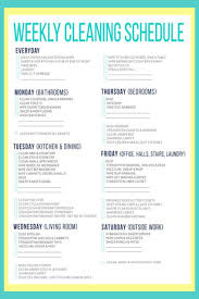 House Cleaning Schedules Checklists Daily Weekly Monthly
