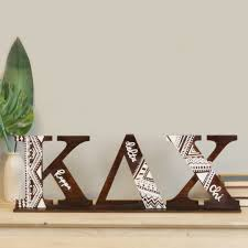 Sorority Letter Designs Diy Stained Greek Letters With Mud Cloth Pattern Craftcuts Com