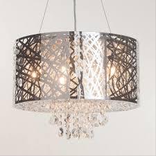 pendant lighting shade. polished chrome drum style pendant light shade lighting