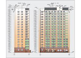 Диплом по ПГС этажный жилой дом с магазинами в г Брянск 2 Фасады