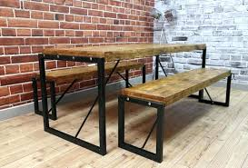 dining table with benches wooden dining room benches steel reclaimed wood dining table benches in