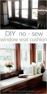 Window Seat Living Room Diy Window Seat Cushion Christinas Adventures