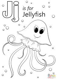 Small Picture Letter J is for Jellyfish coloring page Free Printable Coloring