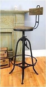 Contract Wholesale Industrial Factory Bar Stool w foot rest wood seat & back