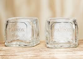 miniature patron tequila bottle shot glasses