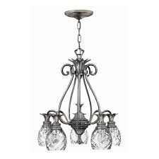 glamorous brushed nickel chandelier with shades jewelry chain indoor