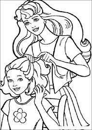 Disegno Di Barbie E Lacconciatura Da Colorare Disegni Da Colorare