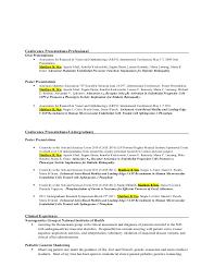 presentation resume