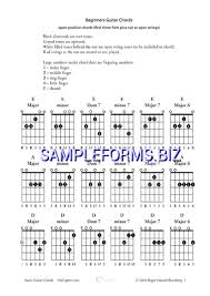Guitar Octave Chords Chart Beginners Guitar Chords Chart Pdf Free 4 Pages