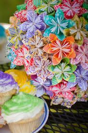 Paper Origami Flower Bouquet Diy How To Origami Paper Flower Bouquet Capitol Romance