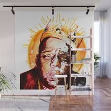 the notorious b i g wall mural by