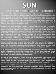 Hip Hop Music Charts 2014 Recording Artist Writer Performer Sun 2014 Sun Is One