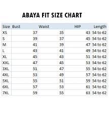 Burqa Size Chart Biased Cut Umbrella Flare Abaya Grey