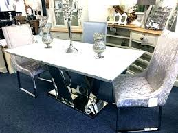 white marble top round dining table dinner kitchen grey six faux