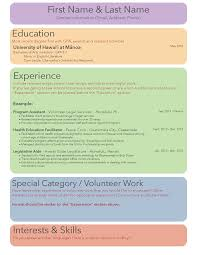 Law School Resume Sections