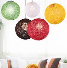 ... Hanging Lights For Kids Room Handmade Single Vine Plants Ball Pendant  Lamps Big Ball Hanging Lights ...