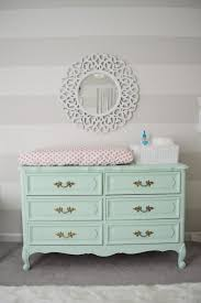 French Provincial Style Dresser Painted Mint - what a fab changing table!