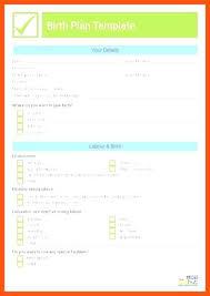 Free Birth Plan Templates Birth Plan Template Sample Printable Uk Example Simple Free Templa