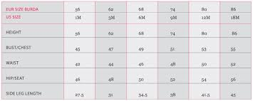 Burda Measurement Guide Burdastyle Com