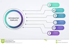 Options Chart Infographics Circles 6 Options Or Steps Business Concept