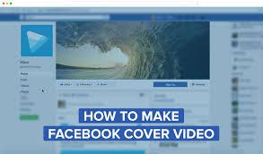 make a facebook video cover in wave video a video maker