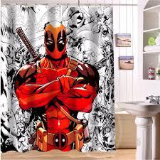 marvel comic book shower curtain