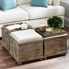 coffee table with pull out ottomans seating bench or chairs underneath and storage chairs diy coffee