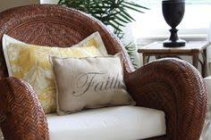 Love The Wicker Chair And Little Pillow Pottery Barn Rattan63