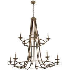 60 wide octavia 15 light two tier chandelier 170379