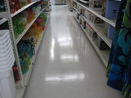 vinyl composite tiles in supermarket