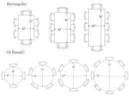 rectangle dining table sizes standard room size amusing design australia siz
