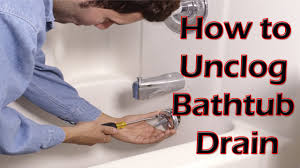 bathtub how to unclog bathtub drain unclogging a slow drain you