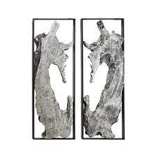 litton lane silver metal abstract wall