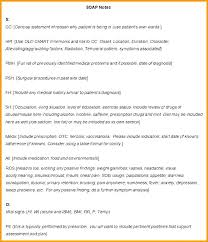 Dental Notes Template Clinical Chart Note Format Soap