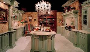 amazing victorian style kitchens with island and built in bookcase and crystal chandelier elegant victorian