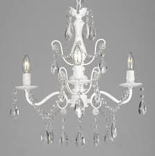 wrought iron crystal white 4 light chandelier pendant fixture vintage style 25 w