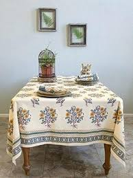 country tablecloth wild poppies french country orange yellow botanical tablecloth country style tablecloths uk