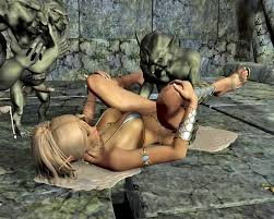 Hot orc babes in some rough orc porn World of porncraft 3d