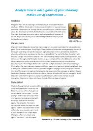 games essay analyse how a video game of your choosing makes use of conventions introduction<br games essay