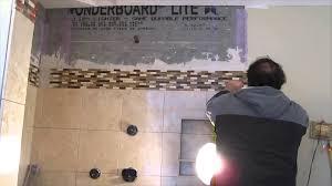 How To Tile A Bathroom Floor Video Marble Tile Master Bathroom Shower Stall Youtube