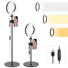 Ring Light For Phone Amazon Ring Light With Stand And Cell Phone Holder Tryone 8 Led