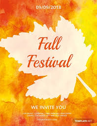 Fall Festival Flyer Free Template Free Fall Festival Flyer Template Download 675 Flyers In Psd