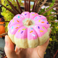 painted donut pumpkin for no carve ideas fall diy ideas doughnut pumpkin ideas and ideas