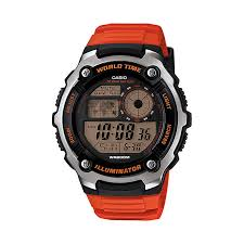 casio watches edifice g shock solar digital h samuel casio men s black dial orange resin strap watch product number 3770087