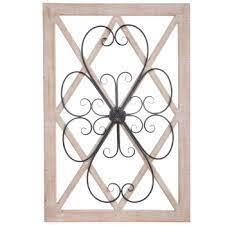 scroll lattice wood wall decor