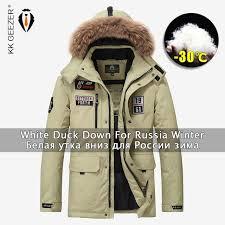 winter jacket down men military 80 duck warm men parkas thick padded waterproof casual loose fur hood windproof coat plus size jackets